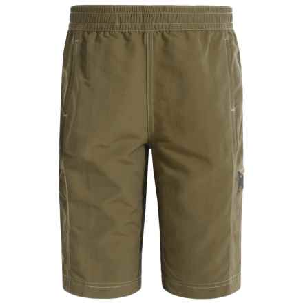 White Sierra Sierra Trail Shorts - UPF 30 (For Little and Big Boys) in Bark - Closeouts