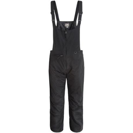 White Sierra Ski Bib Overalls - Insulated (For Men) in Black