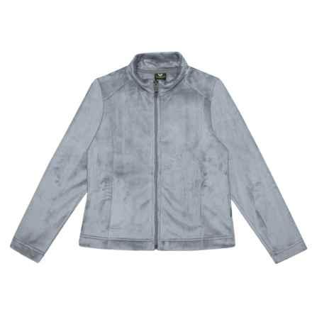 White Sierra Skyland Plush Fleece Jacket (For Girls) in Sleet Grey - Closeouts