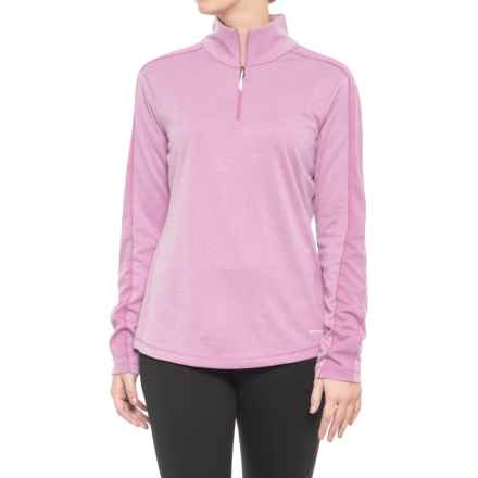 White Sierra Sleek Rock Base Layer Top - UPF 30, Zip Neck, Long Sleeve (For Women) in Smoky Grape - Closeouts