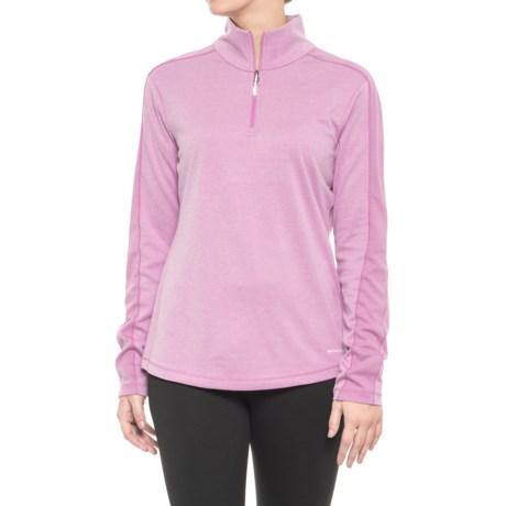 White Sierra Sleek Rock Base Layer Top - UPF 30, Zip Neck, Long Sleeve (For Women) in Smoky Grape