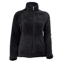 White Sierra Slim Cozy Fleece Jacket (For Plus-Size Women) in Black - Closeouts