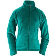 White Sierra Slim Cozy Fleece Jacket (For Plus-Size Women) in Harbor Green - Closeouts