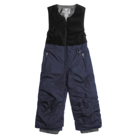 White Sierra Snow Bib Overalls - Insulated (For Kids) in Titanium