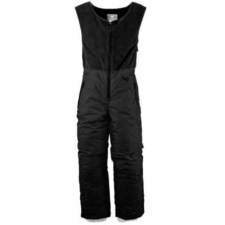 White Sierra Snow Bib Overalls - Insulated (For Little Kids) in Black - Closeouts