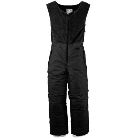 White Sierra Snow Bib Overalls - Insulated (For Little Kids) in Black