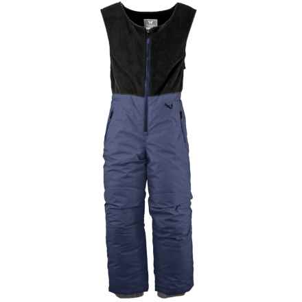 White Sierra Snow Bib Overalls - Insulated (For Little Kids) in Blue Indigo - Closeouts