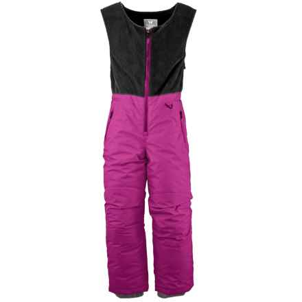 White Sierra Snow Bib Overalls - Insulated (For Little Kids) in Sugar Plum - Closeouts