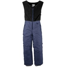 White Sierra Snow Bib Overalls - Insulated (For Toddlers) in Blue Indigo - Closeouts