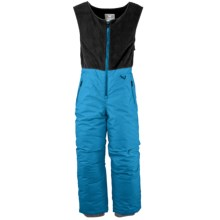 White Sierra Snow Bib Overalls - Insulated (For Toddlers) in Bonnie Blue - Closeouts