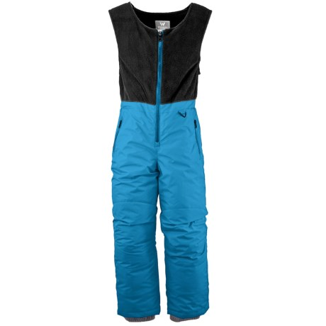 White Sierra Snow Bib Overalls - Insulated (For Toddlers) in Bonnie Blue