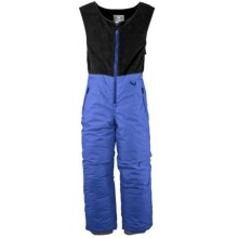White Sierra Snow Bib Overalls - Insulated (For Toddlers) in Ice Blue - Closeouts