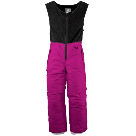White Sierra Snow Bib Overalls - Insulated (For Toddlers) in Magenta