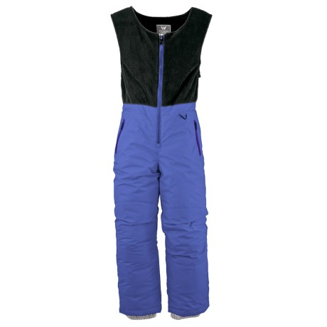 White Sierra Snow Bib Overalls - Insulated (For Toddlers) in Sapphire
