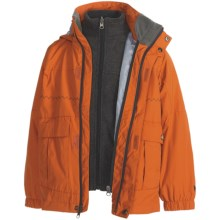 White Sierra Snow Day Jacket - 3-in-1 (For Boys) in Bisque/Charcoal Heather - Closeouts