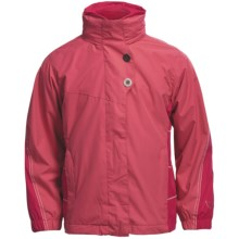 White Sierra Snow Flake Jacket - 3-in-1 (For Girls) in Honeysuckle/Bright Rose/Cloud - Closeouts