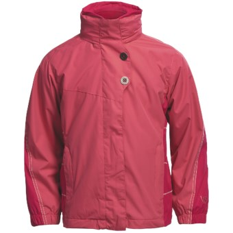White Sierra Snow Flake Jacket - 3-in-1 (For Girls) in Honeysuckle/Bright Rose/Cloud