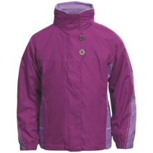 White Sierra Snow Flake Jacket - 3-in-1 (For Girls) in Purple Wine/Wisteria/Cloud - Closeouts