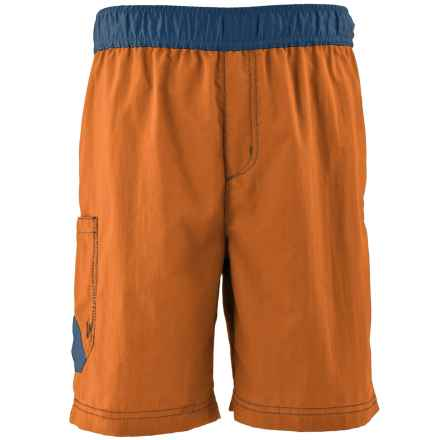 White Sierra So Cal Shorts - UPF 30 (For Little and Big Boys) in Apricot - Closeouts