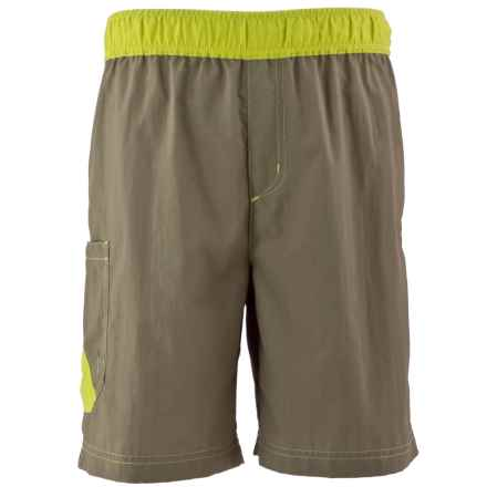 White Sierra So Cal Shorts - UPF 30 (For Little and Big Boys) in Bark - Closeouts