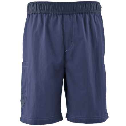 White Sierra So Cal Shorts - UPF 30 (For Little and Big Boys) in Blue Indigo - Closeouts