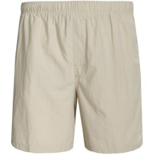White Sierra So Cal Swim Shorts - UPF 30, Inner Brief (For Men) in Stone - Closeouts