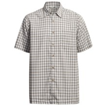 White Sierra South Hampton Plaid Shirt - Short Sleeve (For Men) in Cloud - Closeouts