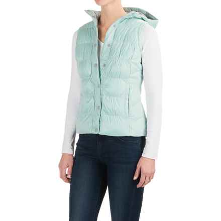 White Sierra St. Helens Hooded Vest - Insulated (For Women) in Mint - Closeouts