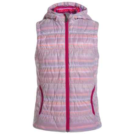 White Sierra St. Helen's Vest - Insulated (For Little and Big Girls) in Sugar Plum Combo - Closeouts