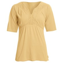 White Sierra Sugarloaf Crochet Shirt - Short Sleeve (For Women) in Wheat - Closeouts