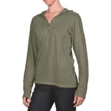 White Sierra Sugarloaf Hoodie Pullover - Cotton Jersey Knit (For Women) in New Sage - Closeouts