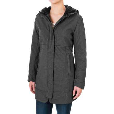 White Sierra Sugarloaf Long Jacket - Insulated (For Women) in Black - Closeouts
