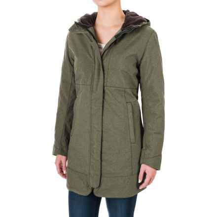 White Sierra Sugarloaf Long Jacket - Insulated (For Women) in Dark Sage - Closeouts
