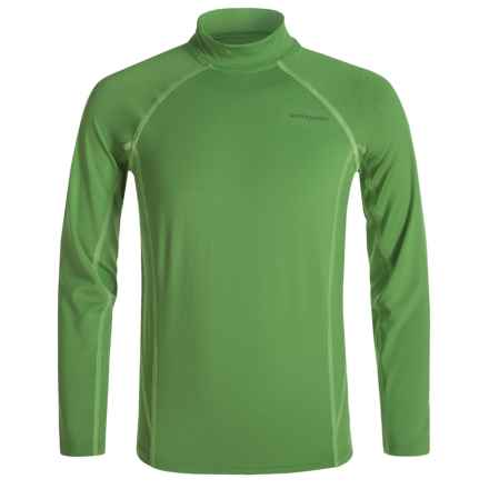 White Sierra Sun Barrier T-Shirt - UPF 30, Long Sleeve (For Little and Big Boys) in Fluorite Green - Closeouts