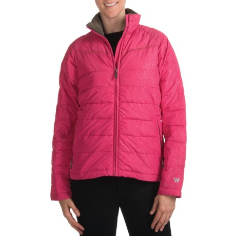 White Sierra Sun Bowl Bomber Jacket - Insulated (For Women) in Bright Rose