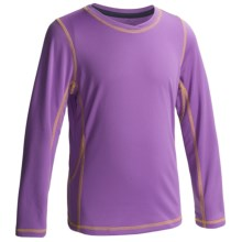 White Sierra Sun Buster Shirt - Long Sleeve  (For Little and Big Girls) in Aged Orchid - Closeouts