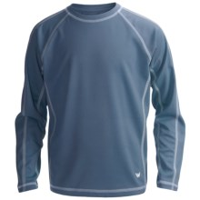 White Sierra Sun Time T-Shirt - UPF 30, Long Sleeve (For Youth) in Blue Steel - Closeouts