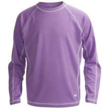 White Sierra Sun Time T-Shirt - UPF 30, Long Sleeve (For Youth) in Wisteria - Closeouts