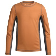 White Sierra Sunbuster T-Shirt - UPF 30+, Long Sleeve (For Little and Big Kids) in Apricot - Closeouts