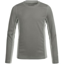 White Sierra Sunbuster T-Shirt - UPF 30+, Long Sleeve (For Little and Big Kids) in Dark Grey - Closeouts