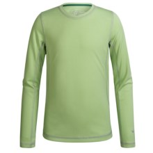White Sierra Sunny T-Shirt - UPF 30+, Long Sleeve (For Little and Big Girls) in Kiwi - Closeouts