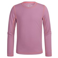 White Sierra Sunny T-Shirt - UPF 30+, Long Sleeve (For Little and Big Girls) in Orchid Haze - Closeouts