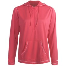 White Sierra Swamp Hoodie Sweatshirt - UPF 20, Insect Shield® (For Women) in Lipstick - Closeouts
