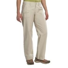 White Sierra Swamp Poplin Roll-Up Pants (For Women) in Stone - Closeouts
