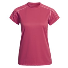 White Sierra Swamp Shirt - UPF 30, Insect Shield®, Short Sleeve (For Women) in Lipstick - Closeouts