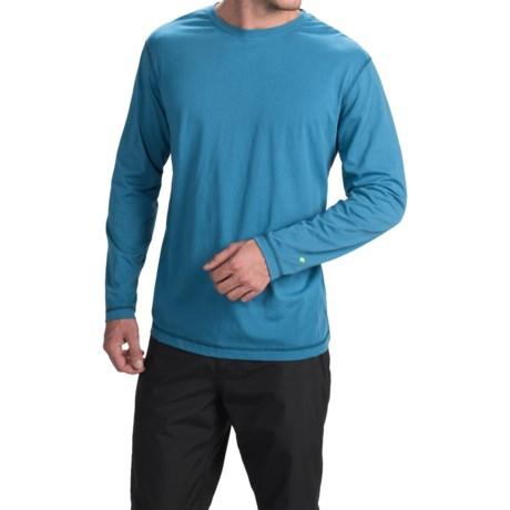 White Sierra Swamp T-Shirt - Insect Shield®, Long Sleeve (For Men) in Cendre Blue