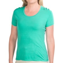 White Sierra Tahoe Flex T-Shirt - Short Sleeve (For Women) in Emerald Island - Closeouts