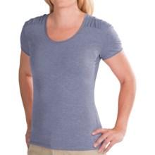 White Sierra Tahoe Flex T-Shirt - Short Sleeve (For Women) in Heather Vintage Indigo - Closeouts