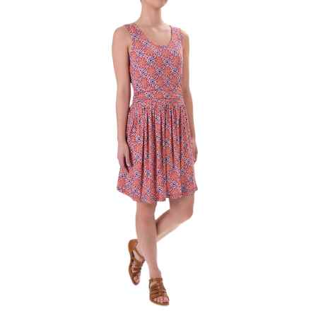 White Sierra Tangier Mosaic Dress - Sleeveless (For Women) in Melon - Closeouts