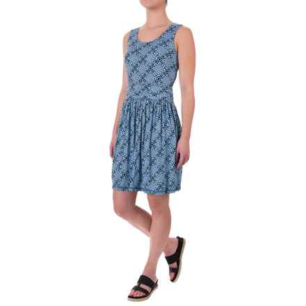 White Sierra Tangier Mosaic Dress - Sleeveless (For Women) in Periblue - Closeouts